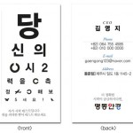 card template for optician