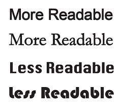 Choose readable fonts