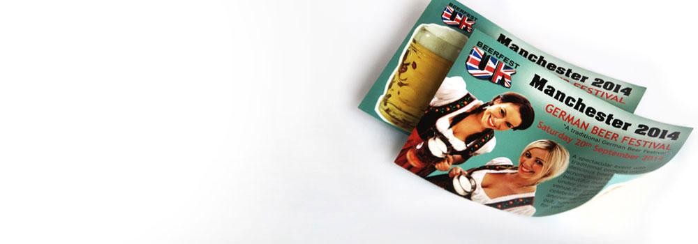 A6 leaflets for a UK beer festival