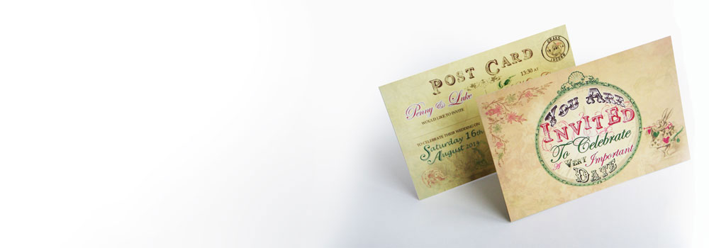 A6 vintage invites