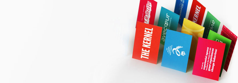 Business Cards Printed In Bright Colours On Both Sides