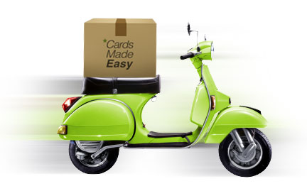 Cards Made Easy scooter
