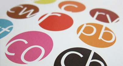 Round shaped coloured printed stickers