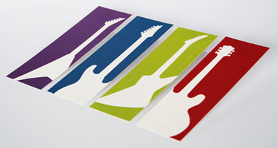 Colourful printed bookmarks