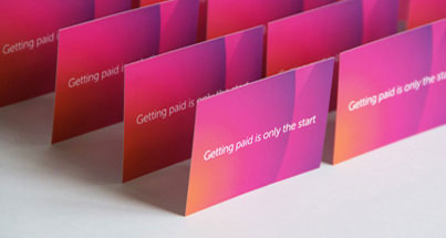 Colourful luxury business cards with laminated finish