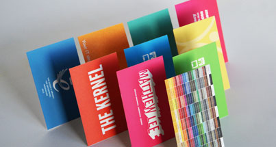 Double sided business cards with colourful print on both sides