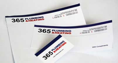 A set of letterheads, compliment slips and business cards