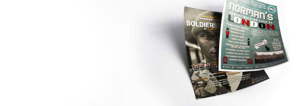 London tour leaflets printed on quality paper