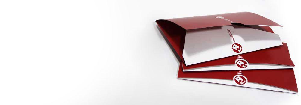 A matt laminated printed folder