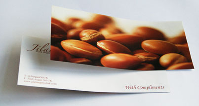 Compliment Slip with printed photo on one side