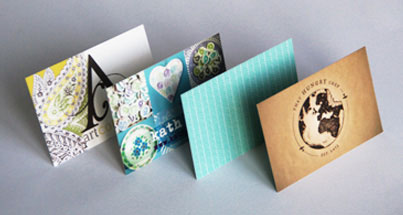 Premium business cards using different colours