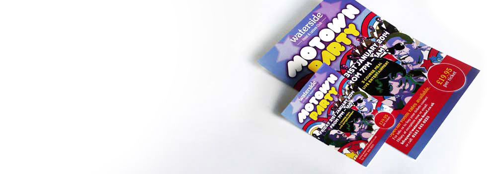Quality leaflets for a motown party event