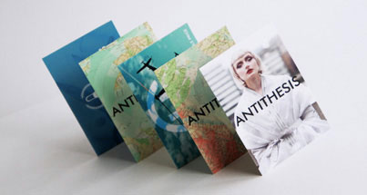 Business cards printed on synthetic material